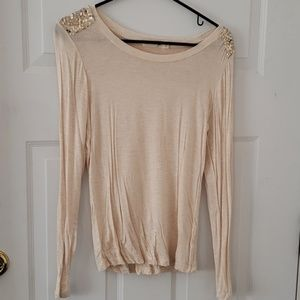 Long sleeve gold sequin
